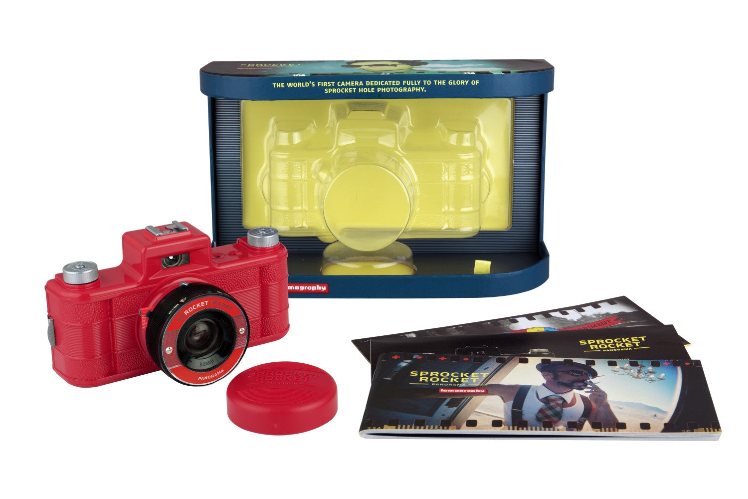 Lomography Sprocket Rocket Red - 35mm Film Camera | Analogue Wonderland packaging