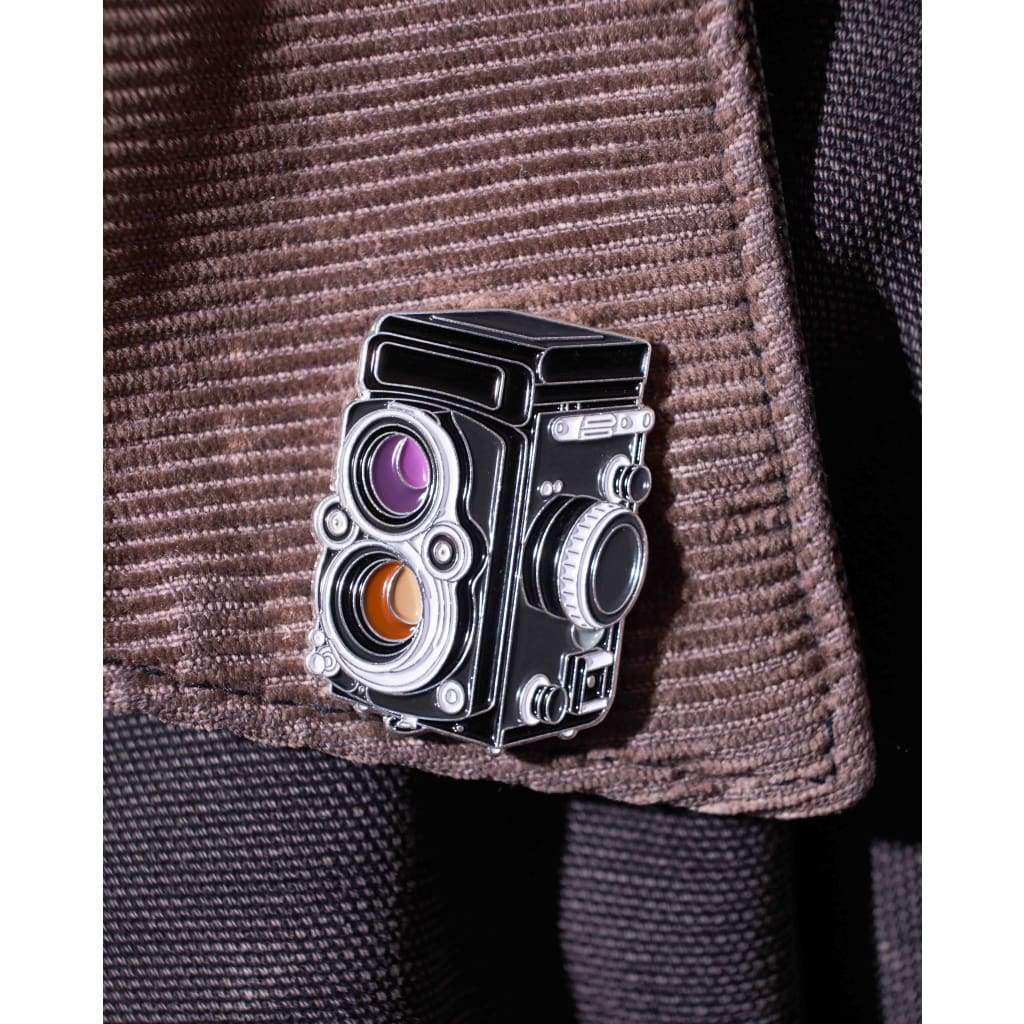 TLR Film Camera Enamel Pin - Analogue Wonderland
