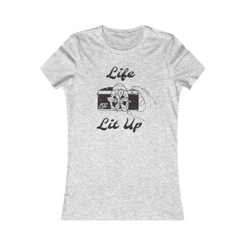 Women's T-Shirt for Film Photographers - Life Lit Up - Analogue Wonderland