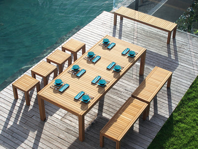 Ixit Outdoor Teak Bench by Royal Botania