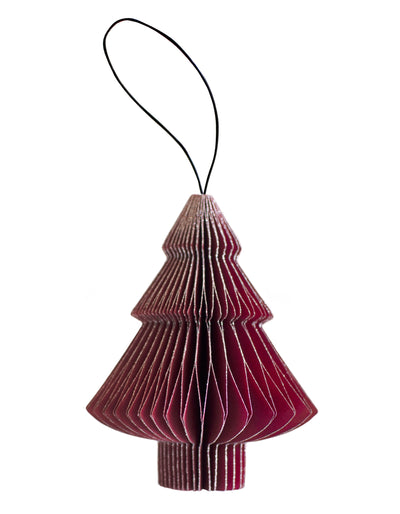 Classic Red Paper Ornaments with silver glitter edge