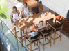 XQI Outdoor Teak Bar Table by Royal Botania