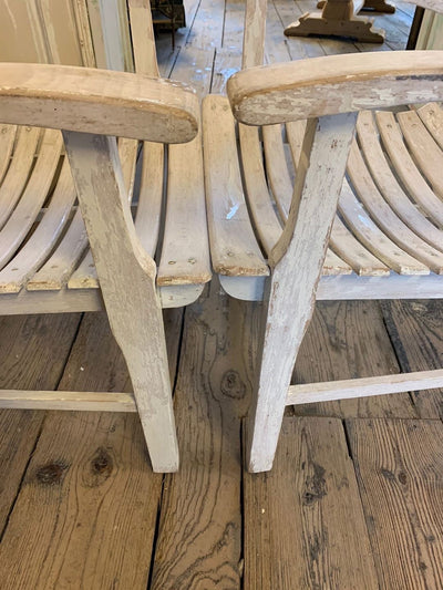 French 1950's Bleached Beach chairs