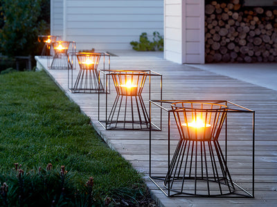 Boo outdoor candle and fire basket by Skargaarden