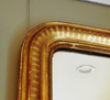 Large French Salon Mirror with Stripe Detail