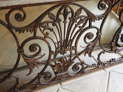 French Cast Iron Console