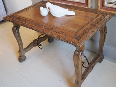 Carved Elm Table