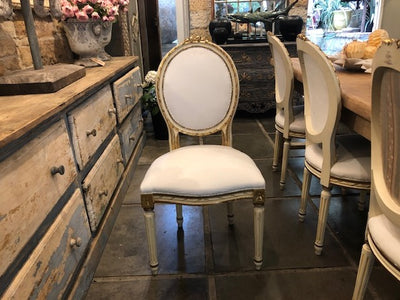 Gold Gilt Italian Dining Chairs