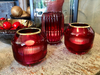 Ruby Glass votives