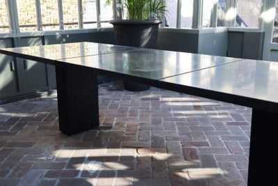 Floor Stock Doble Dining Tables by Fuera Dentro NOW $4,000