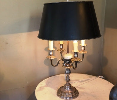 FRENCH 18TH CENTURY SILVER LAMP