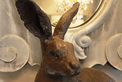 Bronze Hare Sculpture