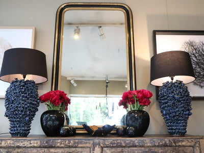 Ebony & Gold Salon Mirror