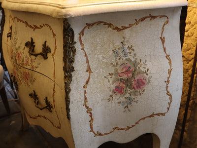 Floral Painted Commode SOLD
