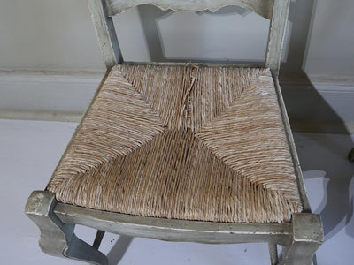 Set of 6 Rush chairs