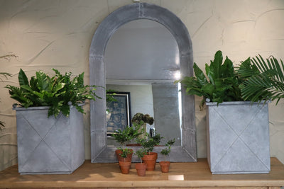 Rouen Arched metal mirror