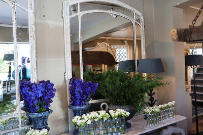 French oak & wrought iron chateau mirrors