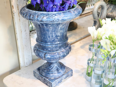 ENAMEL & CAST IRON ANTIQUE URN