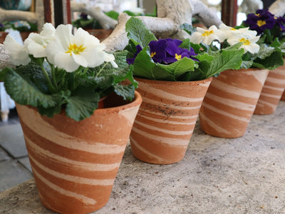 Antique French Hand thrown Terracotta Pots
