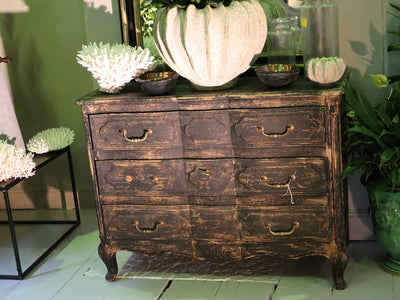 Distressed Black Commode SOLD