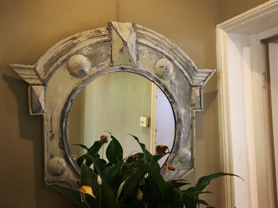 Pair of Oeil de Boeuf Mirrors