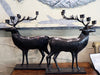 A pair of French Reindeer Candelabras