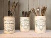 A collection of ceramic glazed confit pots circa 1920
