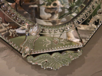 1940's Venetian Crown Mirror
