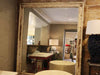 Bamboo Mirror with distressed patina
