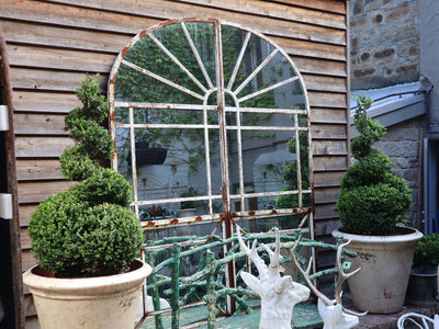 1920's Cast Iron Door Frame Mirror