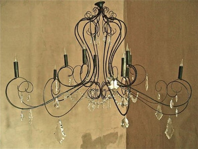 Lustre 'Extra' Crystal & Wire Chandelier
