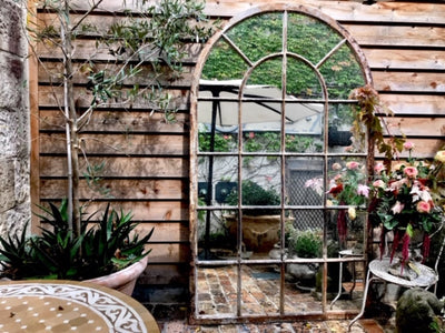 Cast Iron Mirrored Orangerie Panels