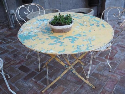 Yellow Folding Table