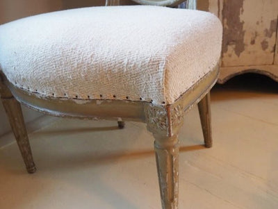 French Linen Chairs