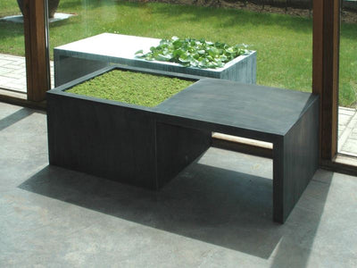 Zinc Planters with Bench Seat 'In-Out' by Domani