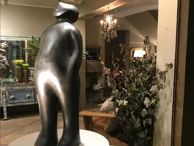 'The Visitor' (Bronze) by Guido Deleu
