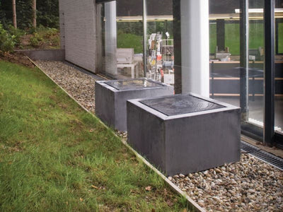 Zinc Square Fountain by Domani