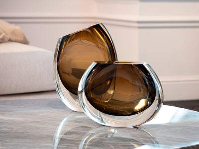 VASE 92,96 & DROP BOWL BY MARIO SEGUSO (CA D'ORO GLASS)