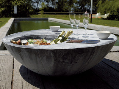 Zinc Cool Table by Domani