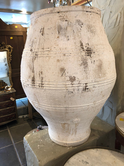 Whitewash Greek Olive Jars