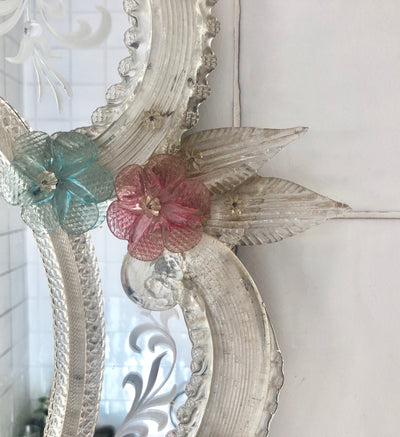 Rose Venetian Mirror SOLD