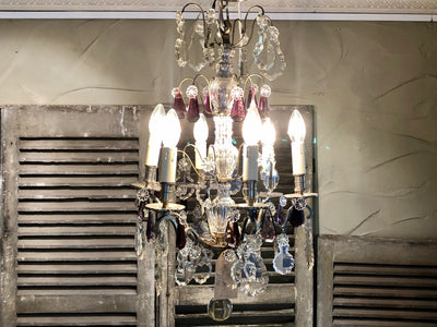 French Pewter Chandelier