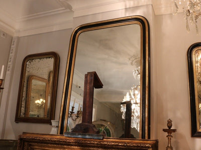 French Ebony Salon Mirror