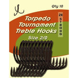Torpedo Tournament Treble Hooks - Natural Sports - The Fishing Store