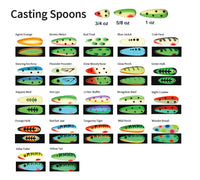 MOONSHINE SPOONS COLOUR CHART