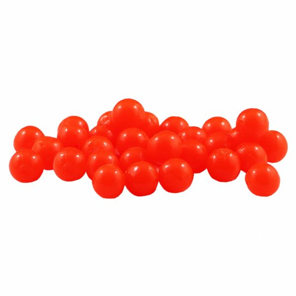 BC Orange Cleardrift Soft Beads for Steelhead Fishing
