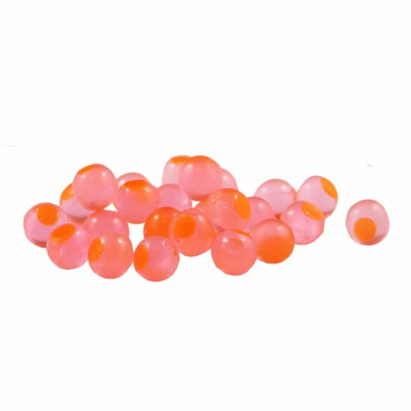 Candy Apple with Orange Dot Cleardrift Embryo Soft Beads for Steelhead Fishing