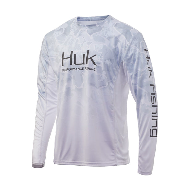 Current Kenai Huk Icon X Current Camo Fade Long Sleeve Fishing Shirt