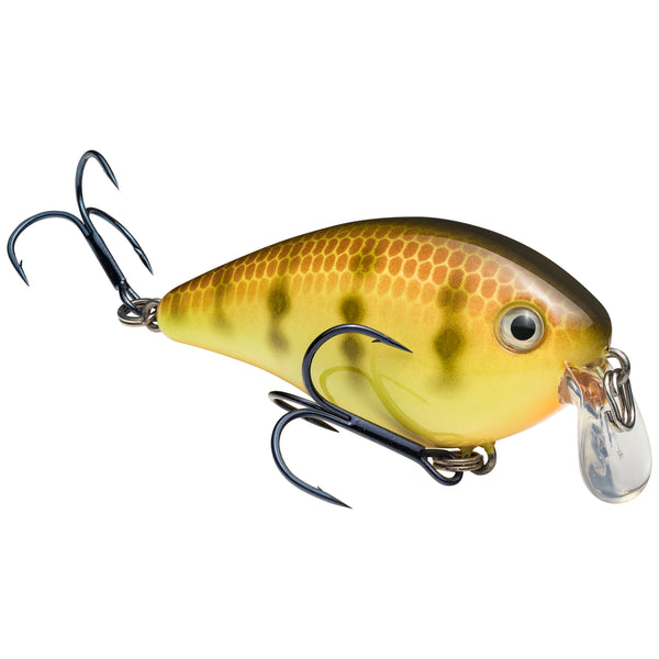 Chartreuse Perch Strike King KVD 1.5 Shallow Squarebill Crankbait