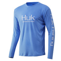 Carolina Blue Huk Icon X Long Sleeve Fishing Shirt